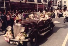 Funchal Flower Parade, 1985 - Grandpa Jordão Marques dos Santos is driving the car