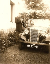 Jordão Marques dos Santos with the 1935 Open Road Tourer, early 1950s