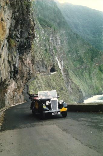 """3rd Raid """"Diário de Notícias"""", 1990 - Old road from Porto Moniz to São Vicente"""
